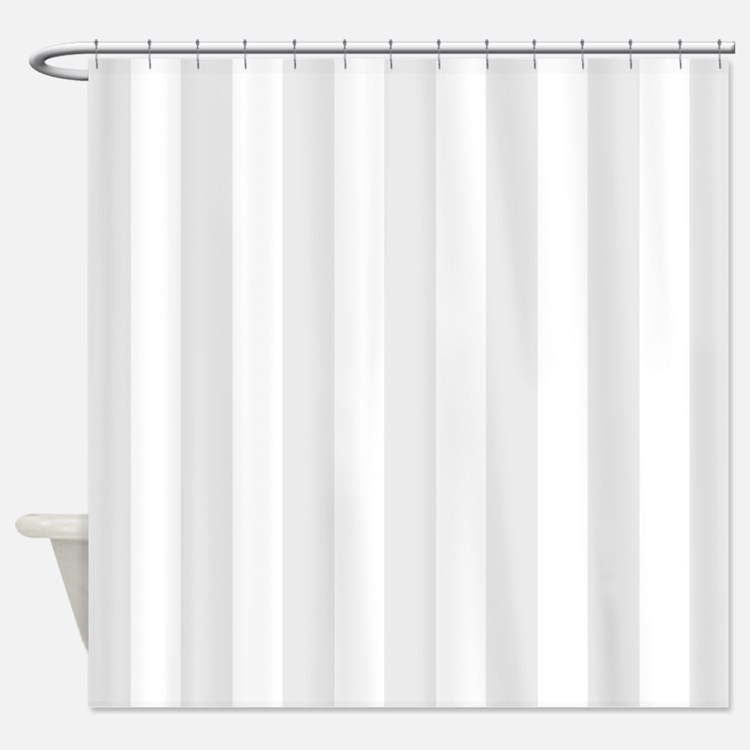 Gray And White Striped Shower Curtains Gray And White