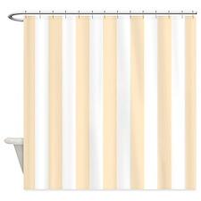 Peach and white stripes Shower Curtain