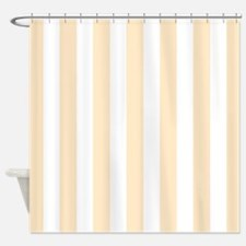Peach and white stripes Shower Curtain