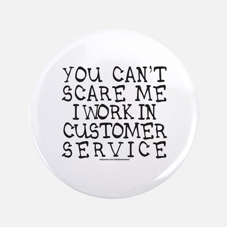 "CUSTOMER SERVICE 3.5"" Button (100 pack)"
