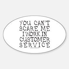 CUSTOMER SERVICE Sticker (Oval)