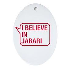 I Believe In Jabari Ornament (Oval)