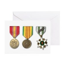 Vietnam Medals Greeting Cards (Pk of 10)