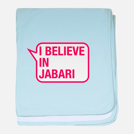I Believe In Jabari baby blanket