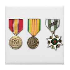 Vietnam Medals Tile Coaster