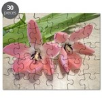 Pink Tulips In Bloom Puzzle