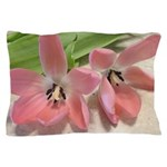 Pink Tulips In Bloom Pillow Case