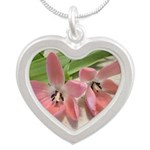 Pink Tulips In Bloom Necklaces