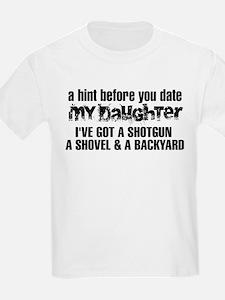 Shotgun, Shovel & A Backyard T-Shirt