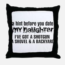 Shotgun, Shovel & A Backyard Throw Pillow