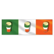 Irish Beer Flag Bumper Bumper Bumper Sticker