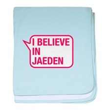 I Believe In Jaeden baby blanket