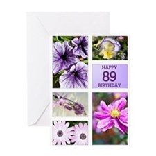89th birthday lavender hues Greeting Card