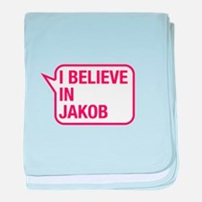 I Believe In Jakob baby blanket