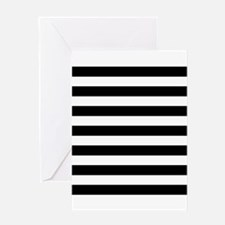 Black and white horizontal stripes Greeting Card