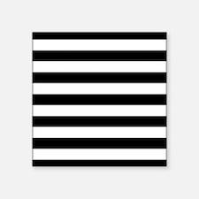 Black and white horizontal stripes Sticker