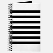 Black and white horizontal stripes Journal