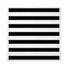 Black and white horizontal stripes Queen Duvet