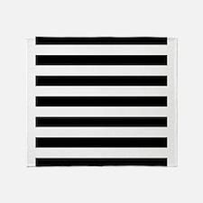 Black and white horizontal stripes Throw Blanket