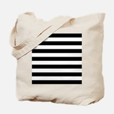 Black and white horizontal stripes Tote Bag