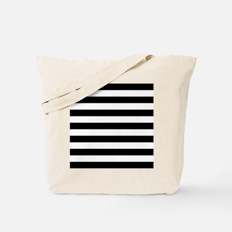 Black and white horizontal stripes Tote Bag