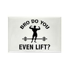 Bro, Do You Even Lift? Rectangle Magnet