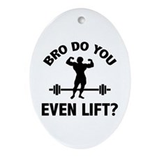 Bro, Do You Even Lift? Ornament (Oval)