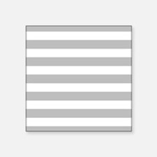Gray and white horizontal stripes Sticker