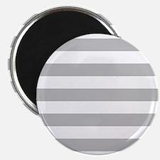Gray and white horizontal stripes Magnet