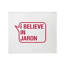 I Believe In Jaron Throw Blanket