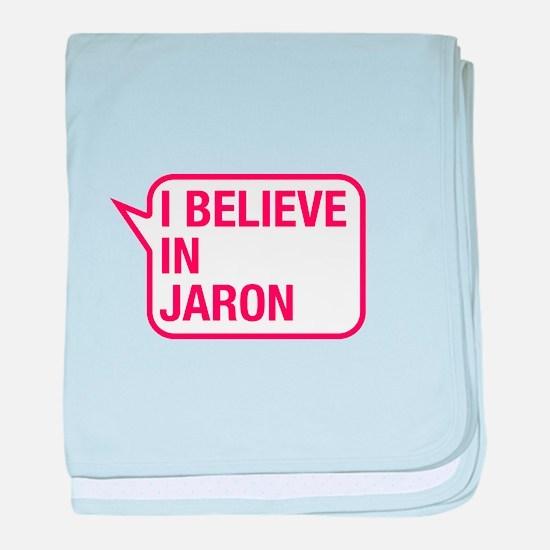 I Believe In Jaron baby blanket