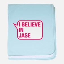 I Believe In Jase baby blanket