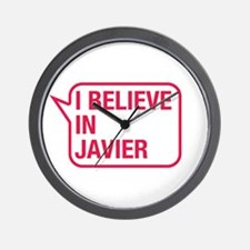 I Believe In Javier Wall Clock