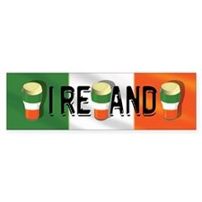 Ireland Beer Flag Bumper Bumper Bumper Sticker