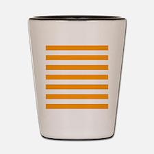 Orange and white horizontal stripes Shot Glass