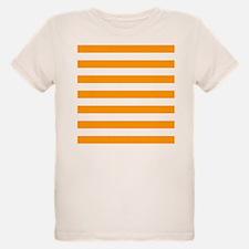 Orange and white horizontal stripes T-Shirt