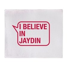 I Believe In Jaydin Throw Blanket