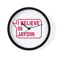 I Believe In Jaydin Wall Clock