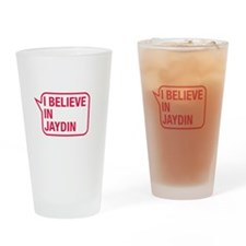I Believe In Jaydin Drinking Glass