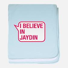 I Believe In Jaydin baby blanket