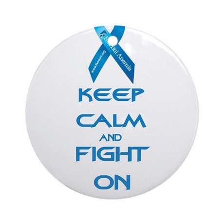 Keep Calm Fight FA Ornament (Round)