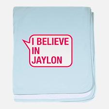 I Believe In Jaylon baby blanket