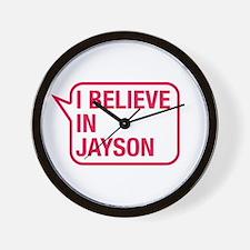 I Believe In Jayson Wall Clock