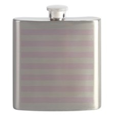 Pink and white horizontal stripes Flask