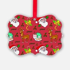 Santa, Reindeer, Cookies Ornament