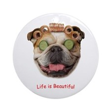 Bulldog Beauty Ornament (Round)