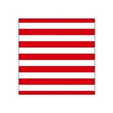 Red and white horizontal stripes Sticker