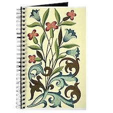 Vintage Flower Bluebell Floral Decoration Journal