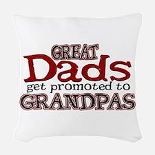 Grandpa Promotion Woven Throw Pillow