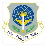 62nd AW Square Car Magnet 3